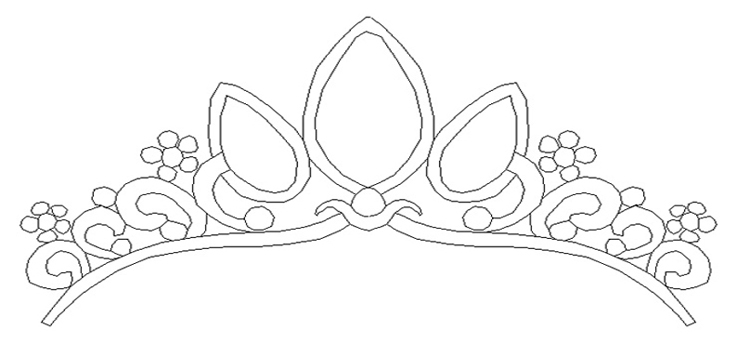 Rapunzel tangled crown printable 0511 disney princess for Paper crown template for adults