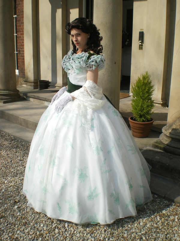 scarlett ohara bbq dress tracys costuming world